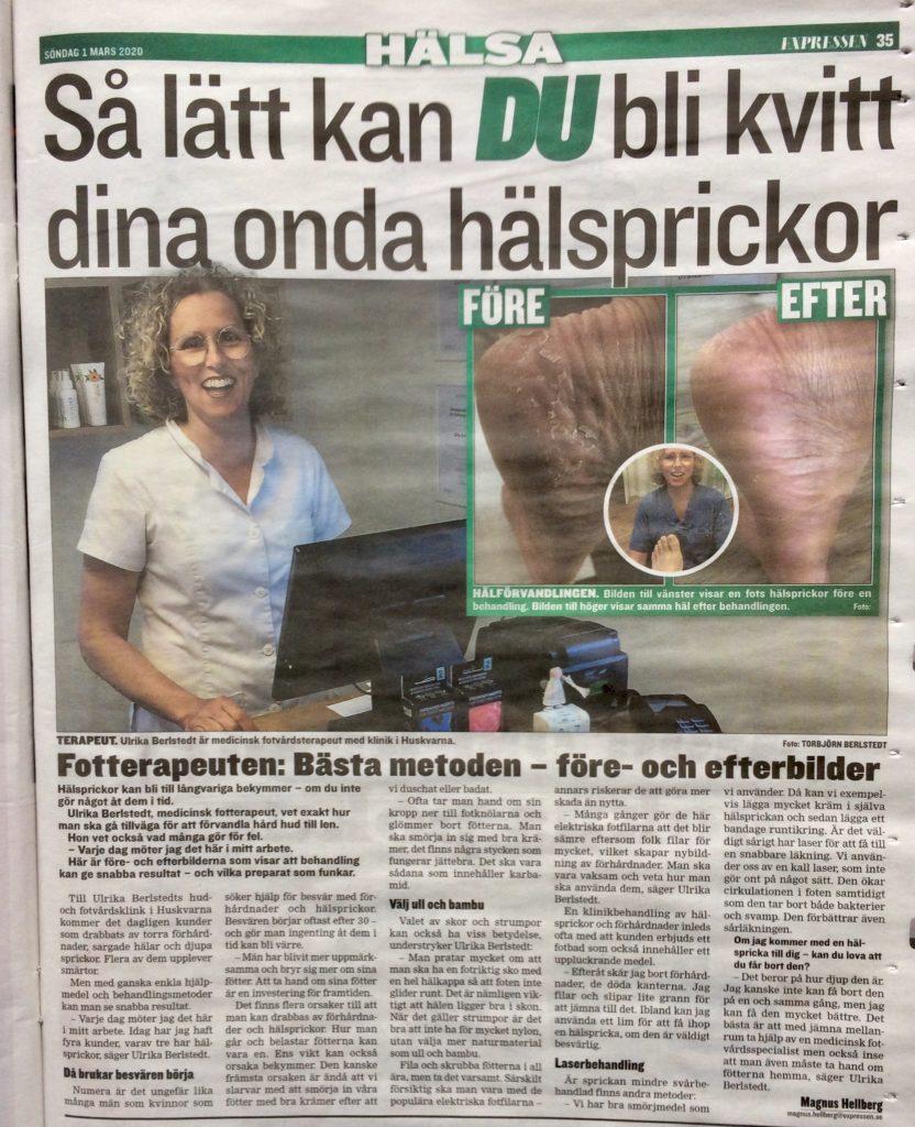 Artikel i Expressen Hälsa 2020-03-01